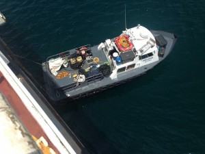 Support vessel for underwater inspections